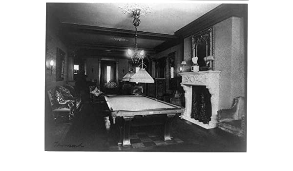 Foto: Mary Scott Townsend casa, sala de billar, mesa de billar, interiores, Washington DC, 1890: Amazon.es: Hogar
