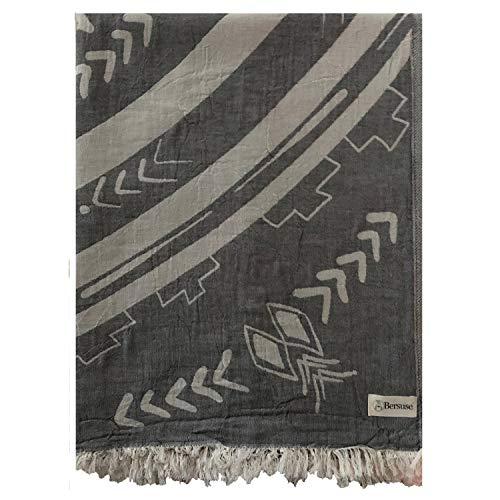 Anthracite Outdoor Wall Light - Bersuse 100% Cotton - Kona Extra Large (XL) Throw Blanket Turkish Towel - Sofa Bed Cover, Picnic Blanket - Peshtemal Beach Towel - Mandala Design, Dual Layer, Oeko-TEX - 75 x 90 Inches, Anthracite