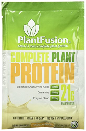 Plantfusion Complete Plant Based Protein Powder  Vanilla Bean  30 G Single Serving Packet  Single Sample  Gluten Free  Vegan  Non Gmo  Packaging May Vary
