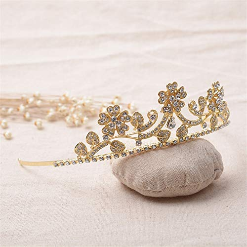 Phoenix Crown Tiara Diadem Luxury Wedding Hair Accessories Crown Headband Hair Band Bride Bridesmaid Diamond Engagement Gold-Colored Flower Jewelry Hg273
