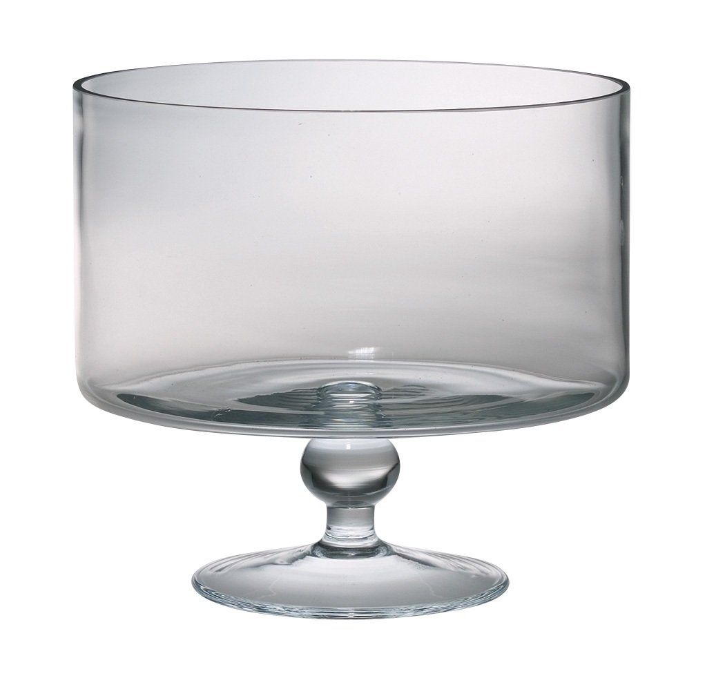 Majestic Gifts European Handmade Trifle Bowl, Large, Clear AT-500