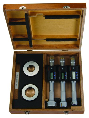 Mitutoyo 468-988 Digimatic Holtest LCD Inside Micrometer, Complete Unit Set, 1-2