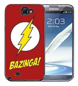 Samsung Galaxy Note 2 Black Rubber Silicone Case - Bazinga Big Bang Theory
