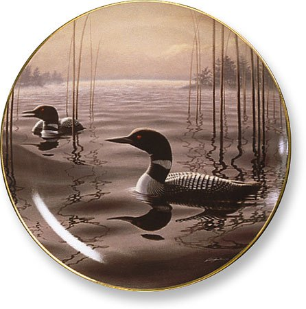 Witching Hour Loons by Phil Scholer 9.25 inch Decorative Collector Plate