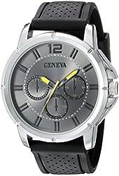 Geneva Men's FMDJM505D Analog Display Japanese Quartz Black Watch