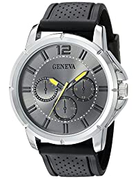 Geneva Men's FMDJM505D Analog Display Japanese Quartz Black Watch