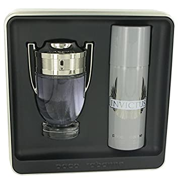 Invictus Cologne By PACO RABANNE Gift Set – 3.4 oz Eau De Toilette Spray 5.1 oz Deodorant Spray FOR MEN