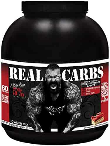 Rich Piana 5% Nutrition Real Carbs (Strawberry Shortcake) 63.49oz (1,800 Grams) 60 Servings