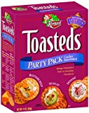 Toasteds Crackers, Party Pack Assortment, 12-Ounce Boxes (Pack of 12)