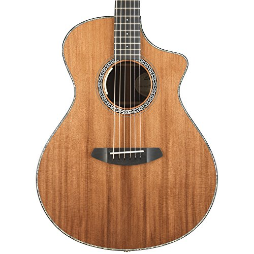 (Breedlove Legacy Concert CE Redwood-Rosewood Acoustic-Electric Guitar with Hardshell Case)