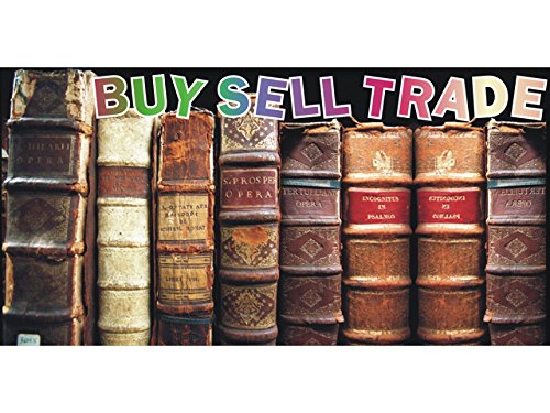 (bn1889 Books Shop Library Buy Sell Trade Banner Sign)