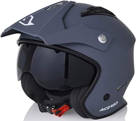 Amazon.es: acerbis casco Jet aire L (59/60) gris