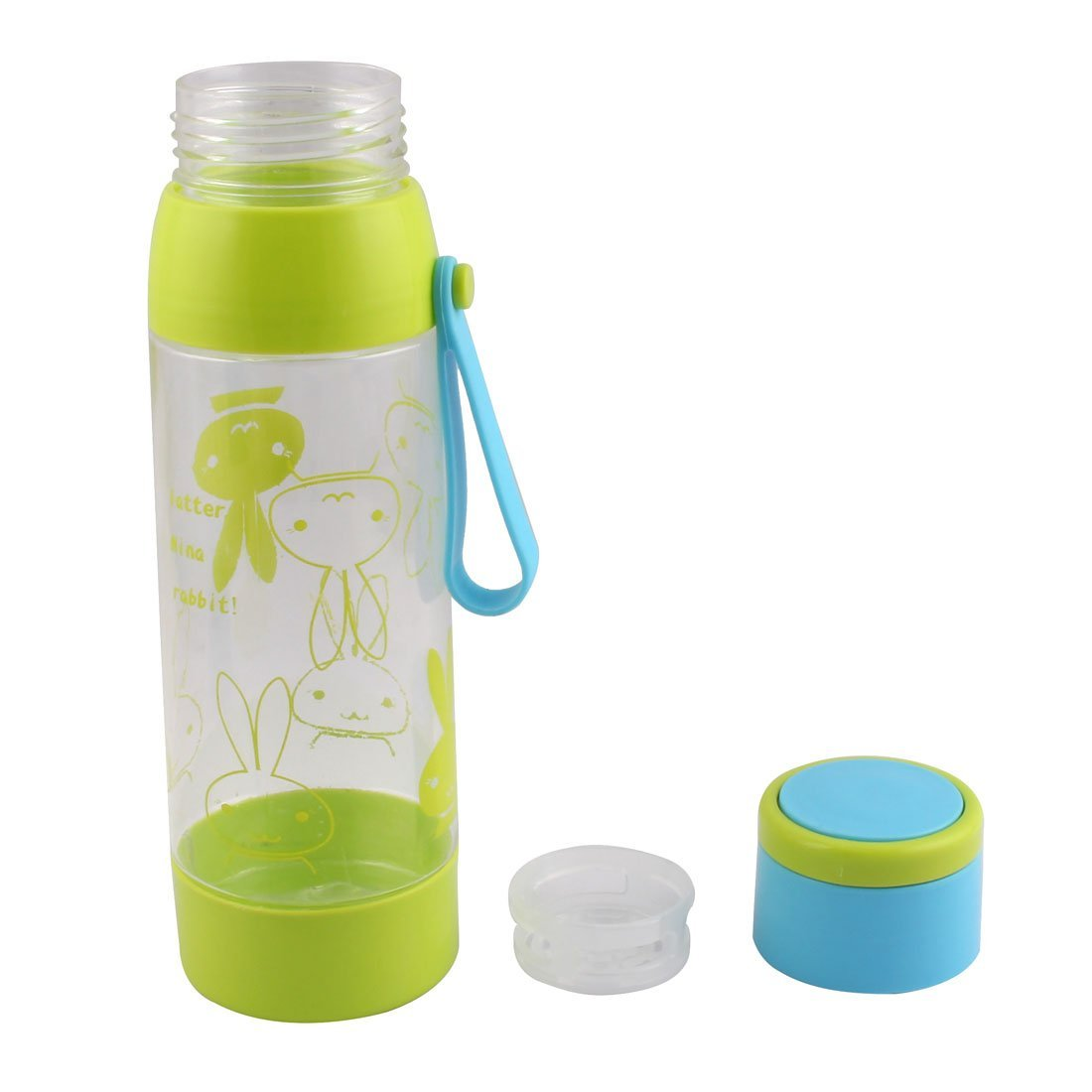 Amazon.com : eDealMax plástico Conejo Imprimir colador de té al aire Libre Deporte Botella de agua de la Taza de 600 ml Verde : Sports & Outdoors