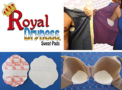 30 Royal Dryness Disposable Sweat Pads for the Underarm (Long Sleeves Shirts) and for the Bra.