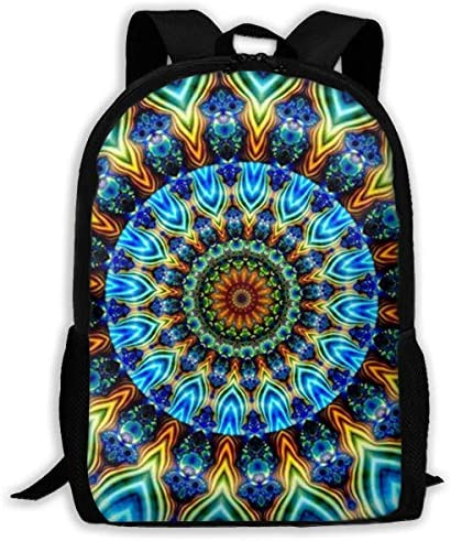 NA Rucksack für Mädchen und Jungen, erstaunliches Mandora-Muster, Reißverschluss, Schule, Büchertasche, Tagesrucksack, Reiserucksack für Männer und Frauen