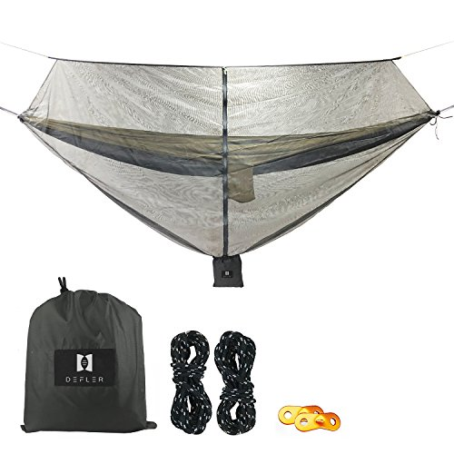 Defler Camping Hammock Bug & Mosquito Net – 360° Protection Perfect Mesh Netting Keeps No-See-Ums, Mosquito and Insects Out – Fits Almost All Hammocks (Mosquito Net) Review