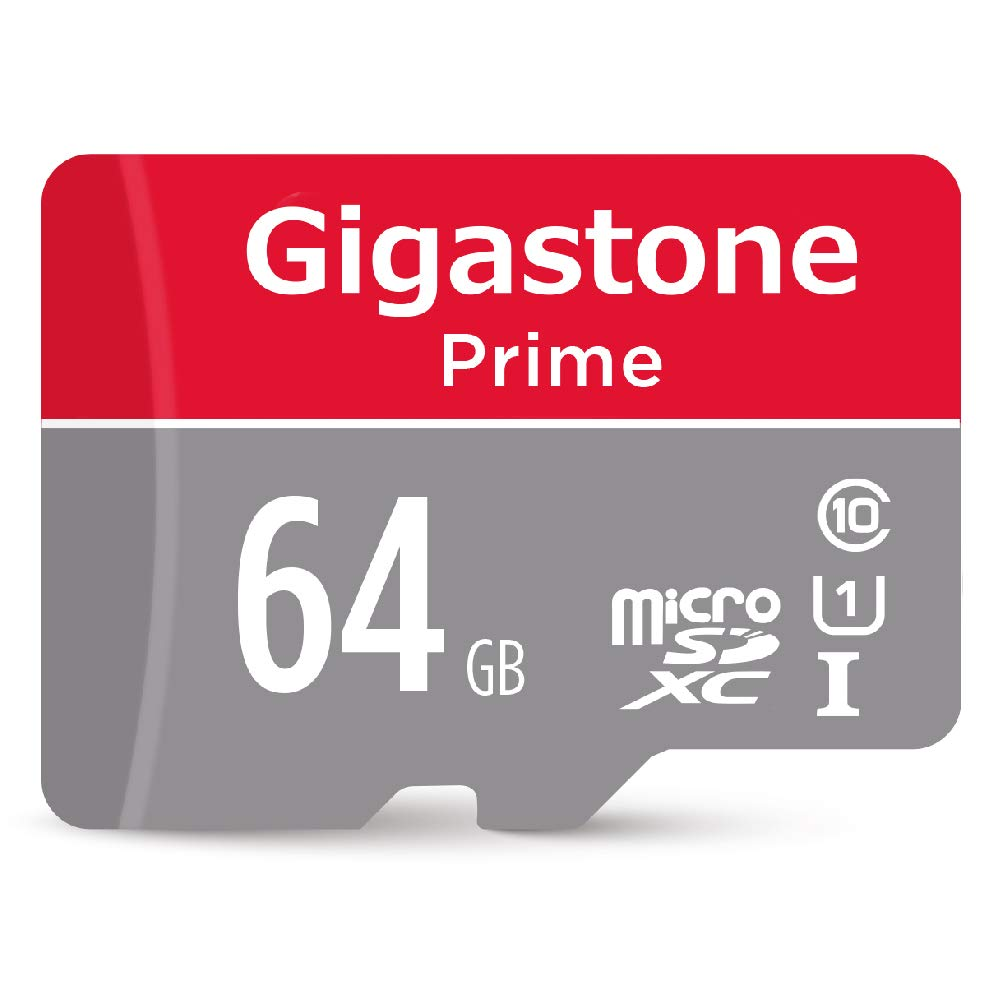 Gigastone 64GB Micro SD Card UHS-I U1 Class 10 MicroSD XC Memory Card with SD Adapter High Speed Memory Card Class 10 UHS-I Full HD Video Nintendo ...