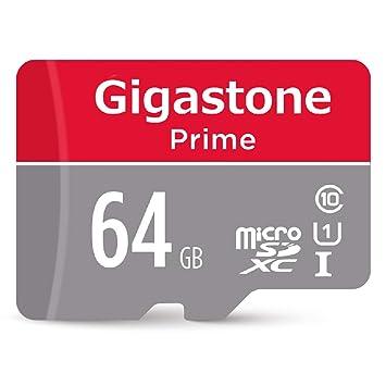 Gigastone 64GB Micro SD Card UHS-I U1 Class 10 MicroSD XC Memory Card with SD Adapter High Speed Memory Card Class 10 UHS-I Full HD Video Nintendo ...