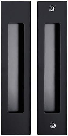 Tirador Empotrado for Puerta corredera Aleación de Zinc Negro Manija Oculta Manija del cajón del Armario Manija Rectangular empotrada 180mm x 32mm (Color : Matt Black): Amazon.es: Hogar