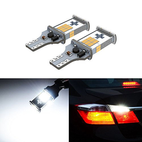 1000-Lumens-Reverse-LED-Bulbs-T15-921-Canbus-Error-Free-Backup-Lights-with-SMD3020-Chipsets-Xenon-White-6000K-2-Pack-by-Limicar