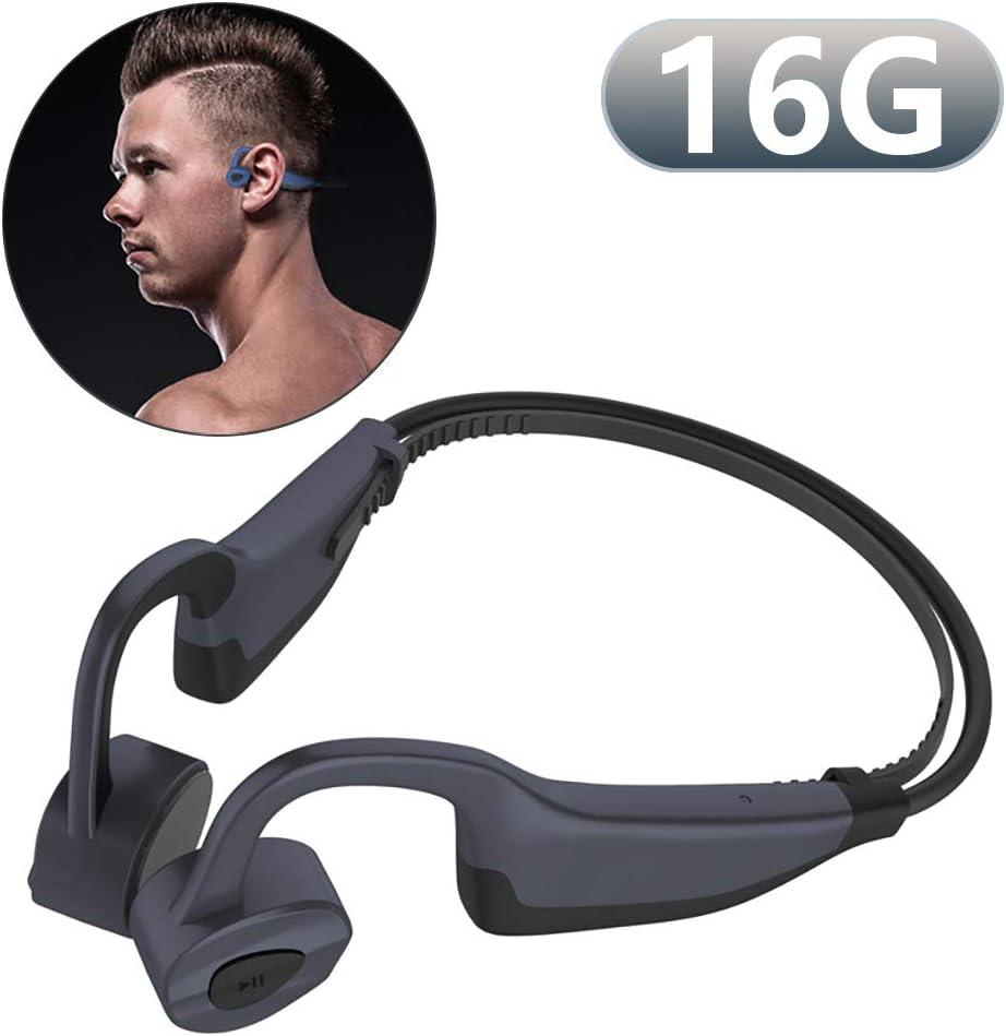 Auriculares Bluetooth de conducción ósea con micrófono, Reproductor de MP3 de 16GBhttps://amzn.to/2KeBEn0