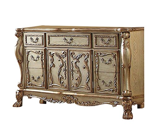 Acme Set Bedroom Set (ACME Dresden Gold Patina Dresser)