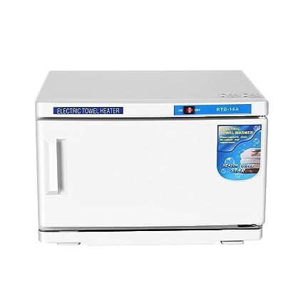 Calentador de toallas UV Esterilizador Gabinete Salón de belleza 16L 200 W Desinfección Calentador de uñas