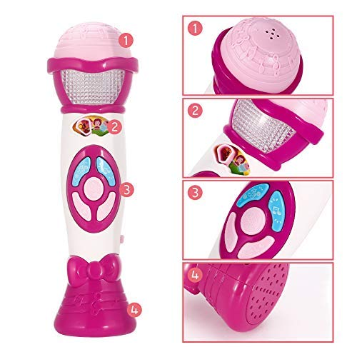 Lumiparty Kids Microphone Karaoke Microphone Machine, Music Microphone,Voice Changing and Recording Microphone with Colorful Lights, Best Toys for Kids Girls Toddlers.(Pink) by Lumiparty (Image #3)