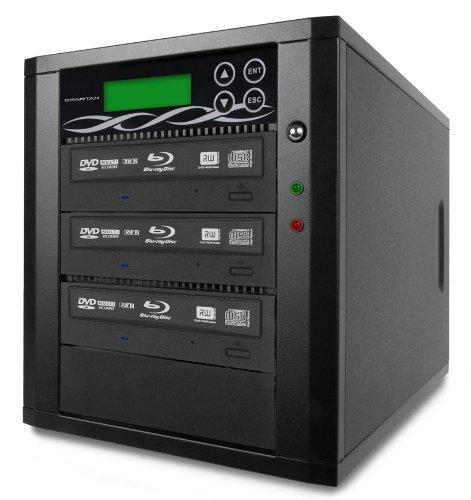 Bestduplicator M-Series (High Performance) - 3 Target 24X SATA Blu-Ray DVD CD Duplicator (Standalone Audio Video Copy Tower, Duplication Device) - 1 to 3 Blu-Ray/DVD/CD Duplicator
