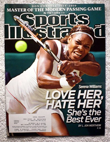 Serena Williams - 2010 Wimbledon Champion - Love Her, Hate Her - She's the Best Ever - Sports Illustrated - July 12, 2010 - Tennis - SI