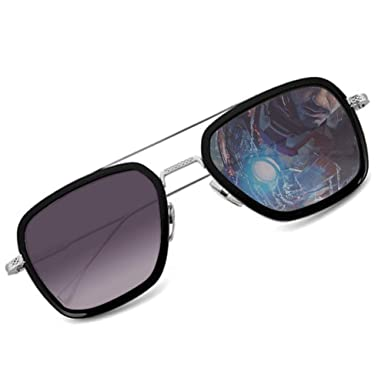 Amazon.com: Tony Stark Gafas de sol, Hombres de la Moda Tony ...