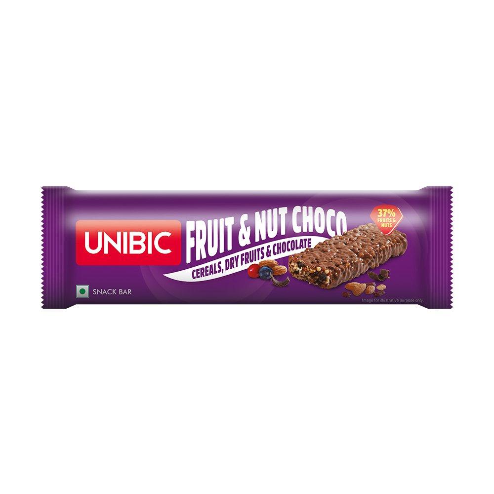 Unibic Snack bar Fruit & Nut Choco Pack of 12, 360g