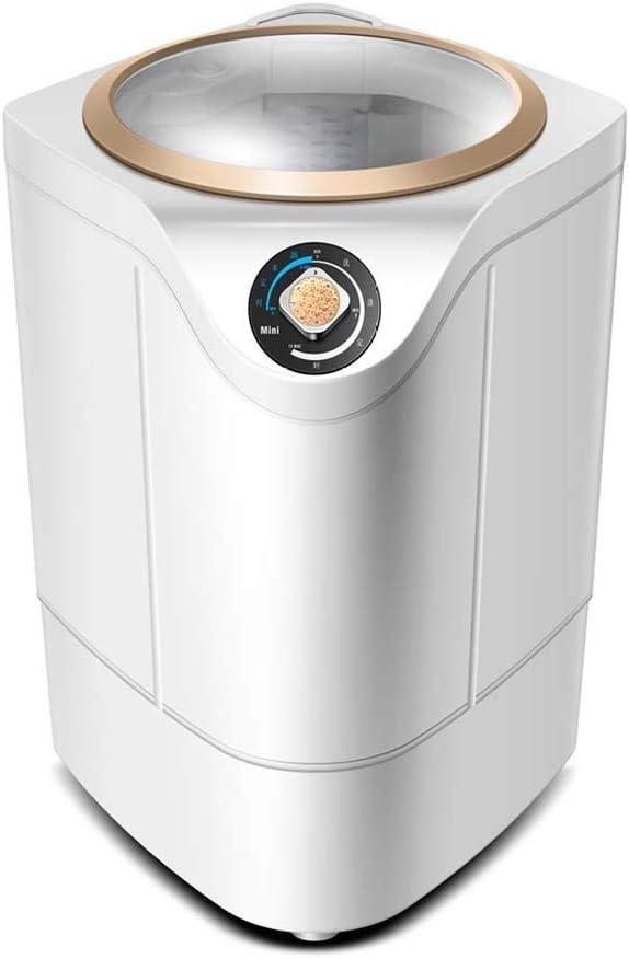 Atten Mini máquina de Lavado de lavandería Compacto, portátil Individual translúcido Tambor de la Lavadora con el Reloj Programador y Vuelta Ciclo Cesta (Color : Gold)