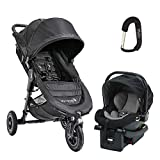 2018 Baby Jogger City Mini Travel System, Complete with City Mini Gt Stroller, City GO Car Seat, Car Seat Adapter and Bonus Baby Gear Xpo Stroller Hook!!! (Black)