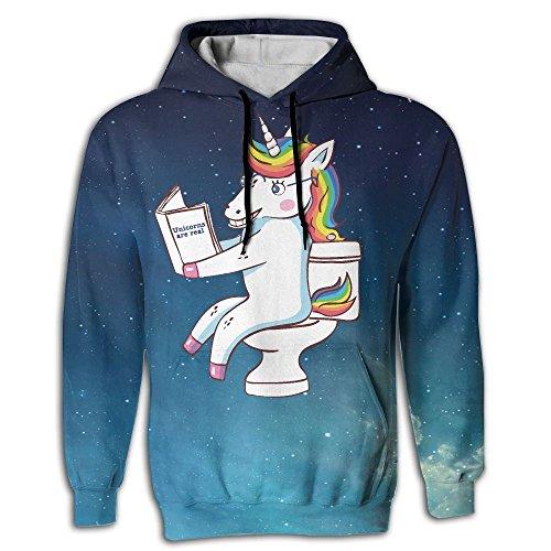 Frouren Dabbing Unicorn Read Book Toilet Men Sweater X-Large (And Christmas Mickey Cartoon Pluto)
