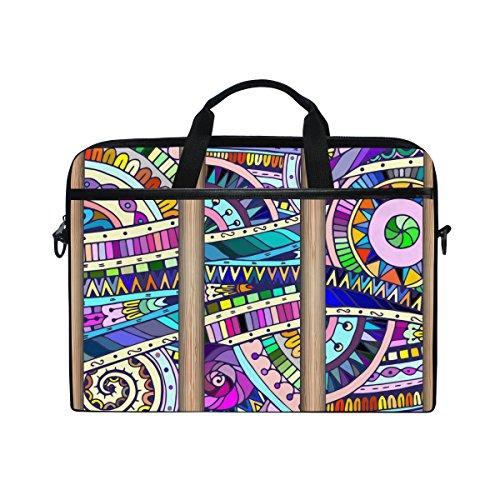 15-Inch Laptop Bag Marble Mexican Tile Canvas Shoulder Messenger Sleeve Case Tablet Briefcase