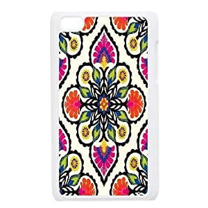Ipod Touch 4 Case Coloeful Flower for Boys, Case for Ipod Touch 4 Jumphigh, {White}