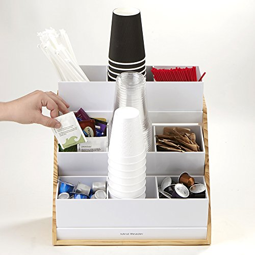 Mind Reader Condiment and Accessories Organizer, 9 Compartments, Wood by Mind Reader (Image #4)