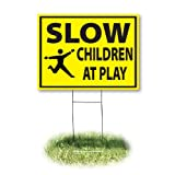 Headline Sign 4731 Yard, Slow/Children at Play, 18-Inch by 24-Inch