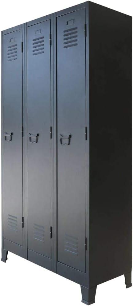 Vidaxl Armoire A Casiers Metal Vestiaire Rangement Salon Chambre Interieur Amazon Fr Fournitures De Bureau
