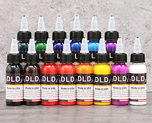 14Pcs Tattoo Ink 14 Colors Set 1 oz 30ml/Bottle Tattoo inks Pigment Kit for 3D makeup beauty skin body art from BaodeLi