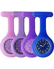 Sibytech Grifri Tunica medica in silicone per infermieri, orologio al quarzo, design orologio, orologio da tasca per operai di assistenza sanitaria, infermieri e medici
