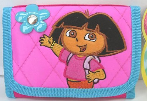 Dora the Explorer & Boots Trifold wallet w/ flower