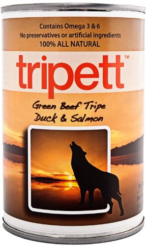 Tripett Advanced Skin and Coat Beef Tripe Duck and Salmon Canned Dog Food by Tripett