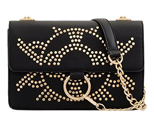Messenger Women's Leather Faux Body 2173 Bags Black LeahWard Cross Handbags F4xYZZn