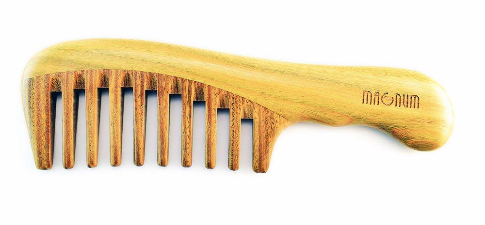 MAGNUM Hair Comb, 100% Natural Guaiac (Lignum vitae) Wood, Handmade DSB Ltd.