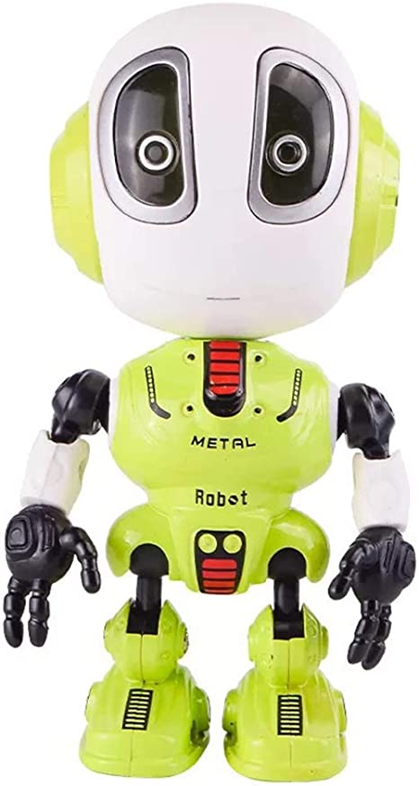 Mini Talking Robot Toys for Kids-with Repeats Your Voice,Led Lights,Cool Sounds Robot Interactive Educational Toy Gift for Boys Girls Creative Birthday Xmas Presents Blue Womdee Talking Robot