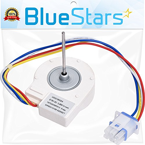 Ultra Durable WR60X10185 Evaporator Fan Motor Replacement Part by Blue Stars – Exact Fit For GE & Hotpoint Refrigerators – Replaces WR23X10353 WR23X10355 (Ge Electric Refrigerator)