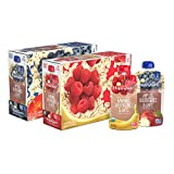 Happy Baby Organic  Clearly Crafted Stage 2 Baby Food Variety Pack, Apples Blueberries & Oats, Bananas Raspberries & Oats, 4 Ounce Pouch (Pack of 16)