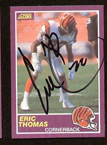 - Eric Thomas signed autograph auto 1989 Score Football Trading Card